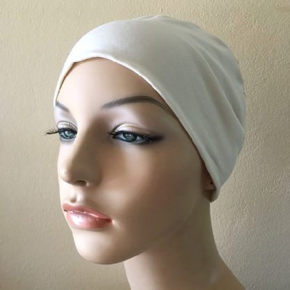 Ivory Sleep Cap - front view