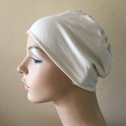 Ivory Sleep Cap - side view