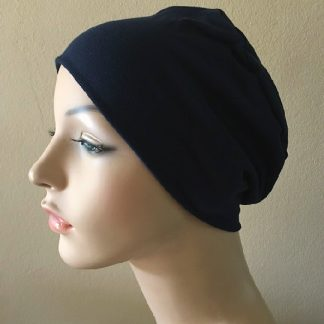 Navy Sleep Cap - side view