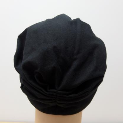Black Classic Turban - back view