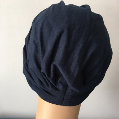 Navy Classic Turban - back view