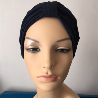 Navy Classic Turban -front view