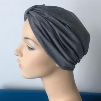 Dark Grey Classic Turban