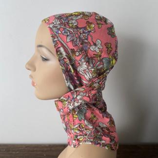 Pink Butterfly print Headzee / Balaclava