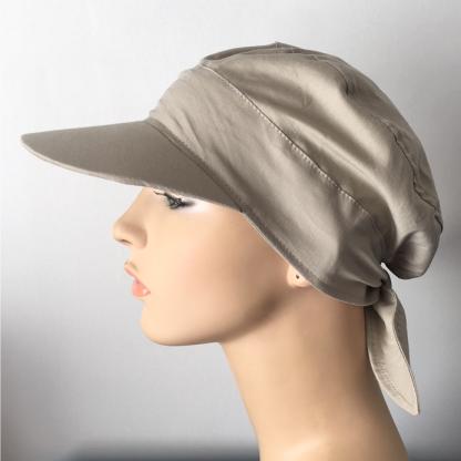 Tie-back cap with peak - Stone