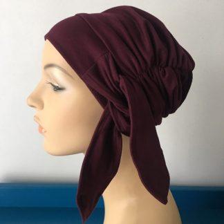 Burgundy Mihla Hat